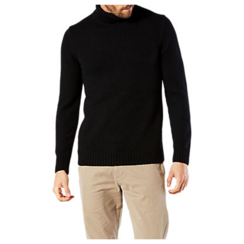 Dockers Textured Knit Turtle Neck Jumper, Black