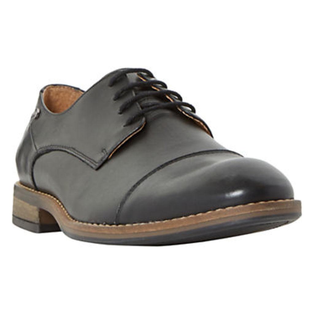 Dune Bauer Toe Cap Derby Shoes, Black