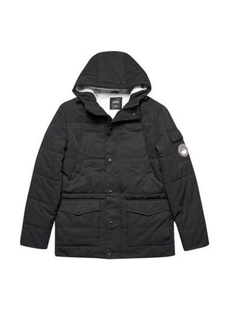 Mens Black Nepal Puffer Jacket, Black