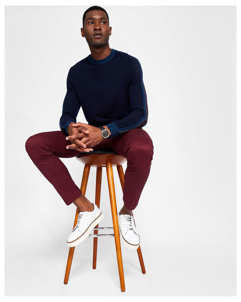 Ted Baker Tapered fit cotton chinos Dark Red