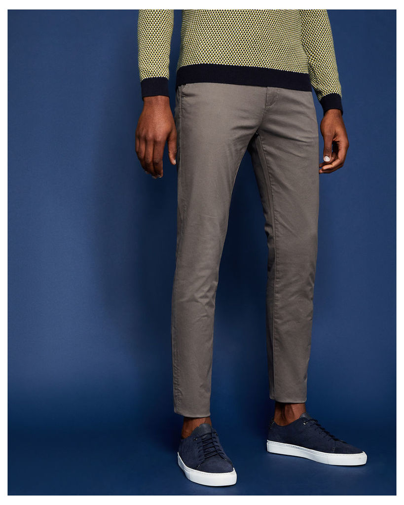 Ted Baker Tapered fit cotton chinos Natural