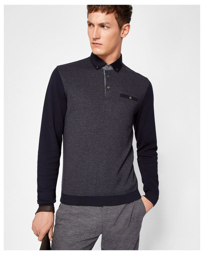 Ted Baker Mouline polo shirt Navy