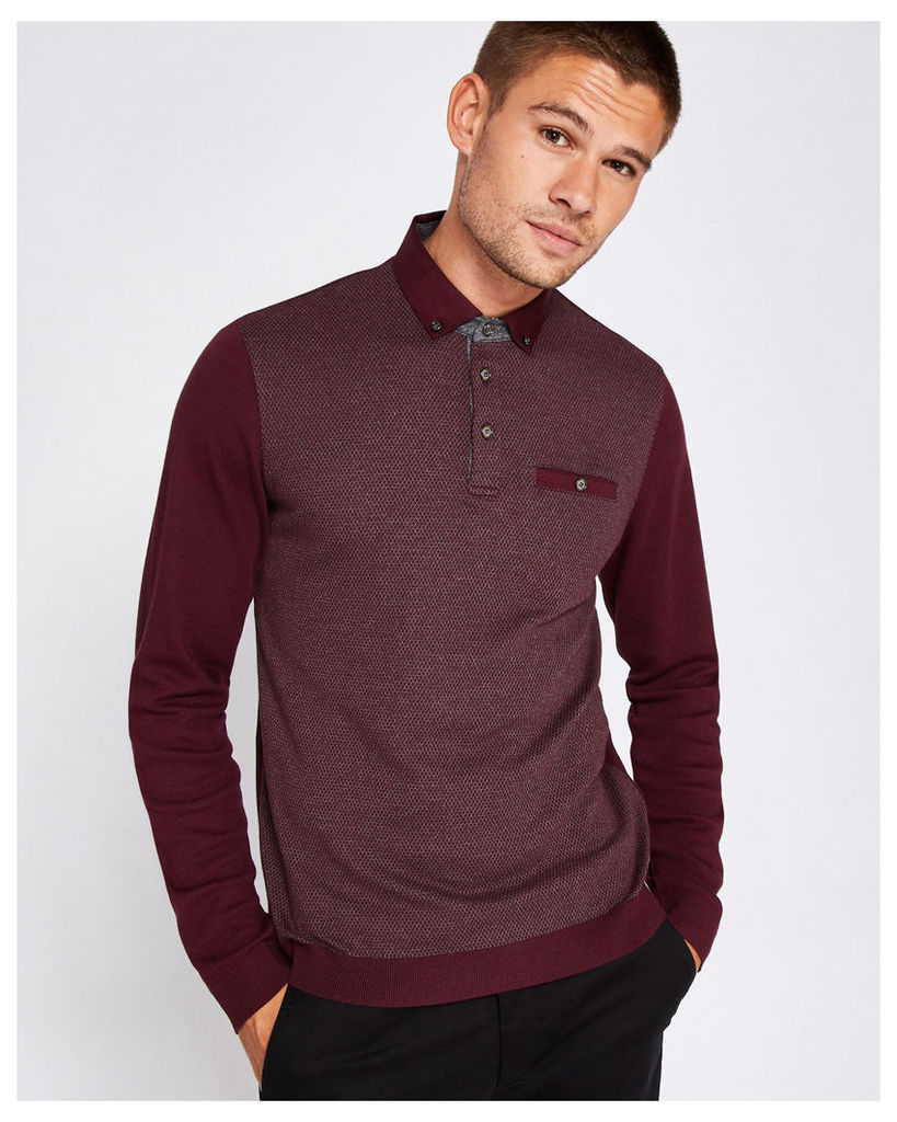 Ted Baker Mouline polo shirt Dark Red
