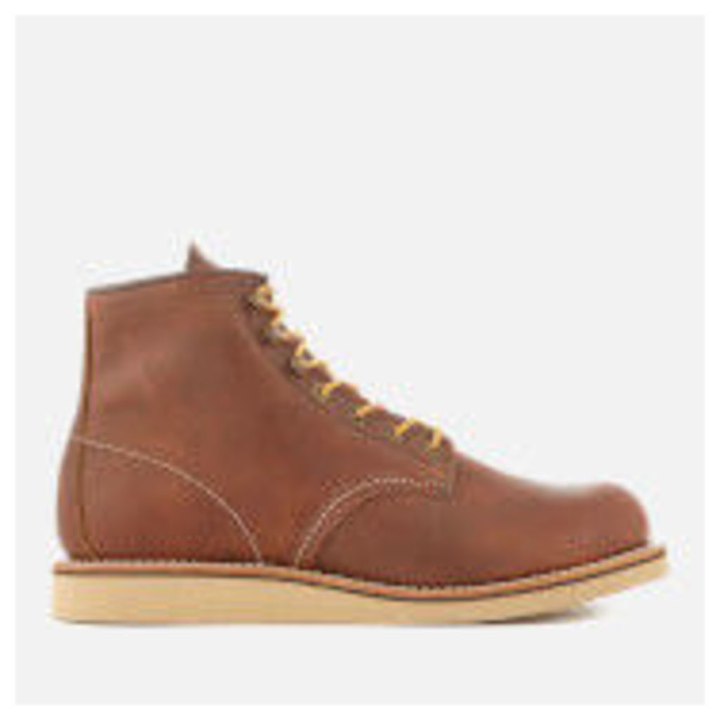 Red Wing Men's Rover 6 Inch Leather Lace Up Boots - Copper - UK 7 - Tan