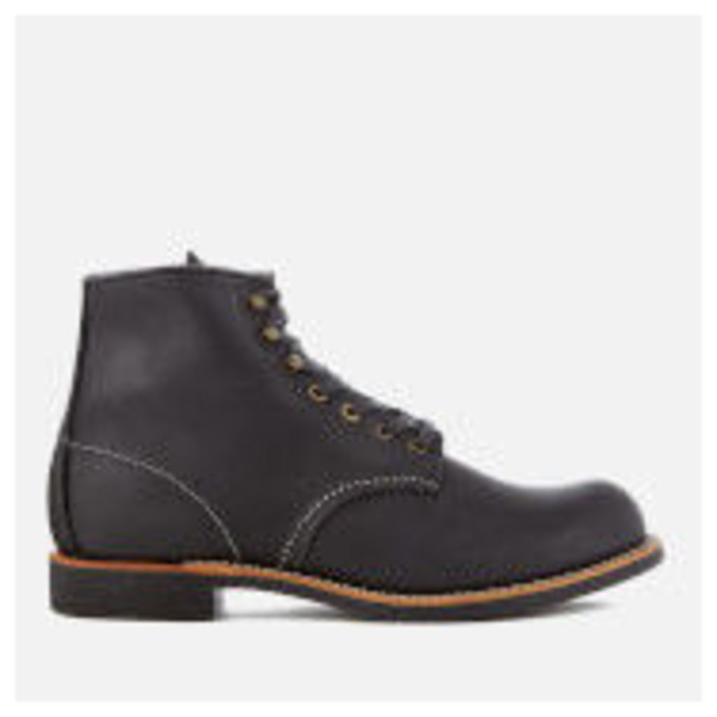 Red Wing Men's Blacksmith 6 Inch Leather Lace Up Boots - Black - UK 7 - Black
