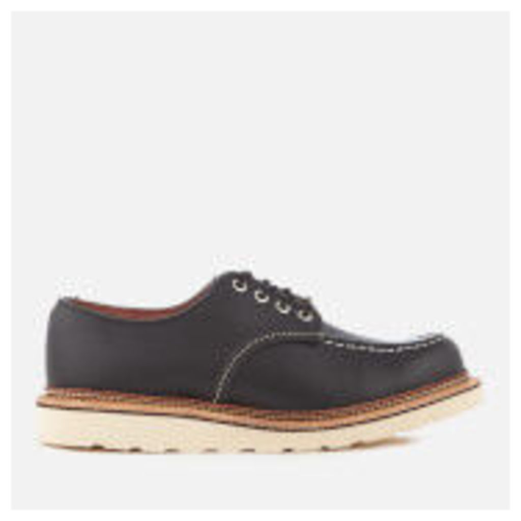 Red Wing Men's Classic Moc Toe Leather Oxford Shoes - Black Chrome - UK 7 - Black