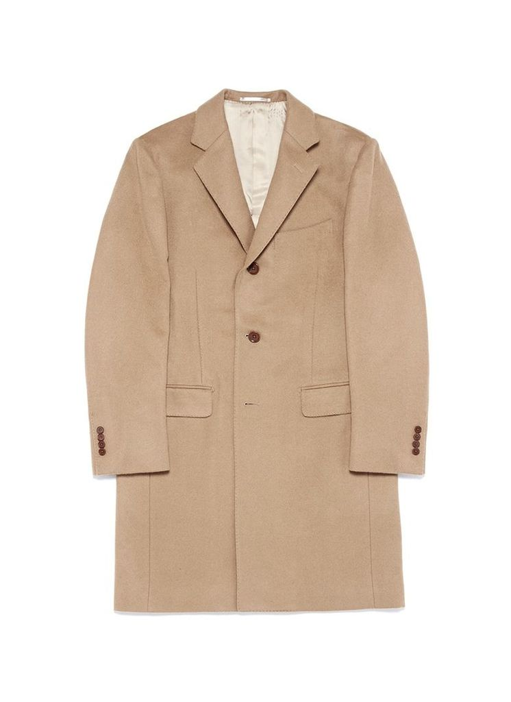 Cashmere-wool blend melton coat