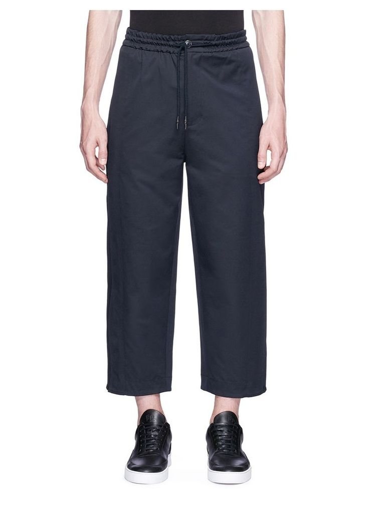 Cropped twill jogging pants