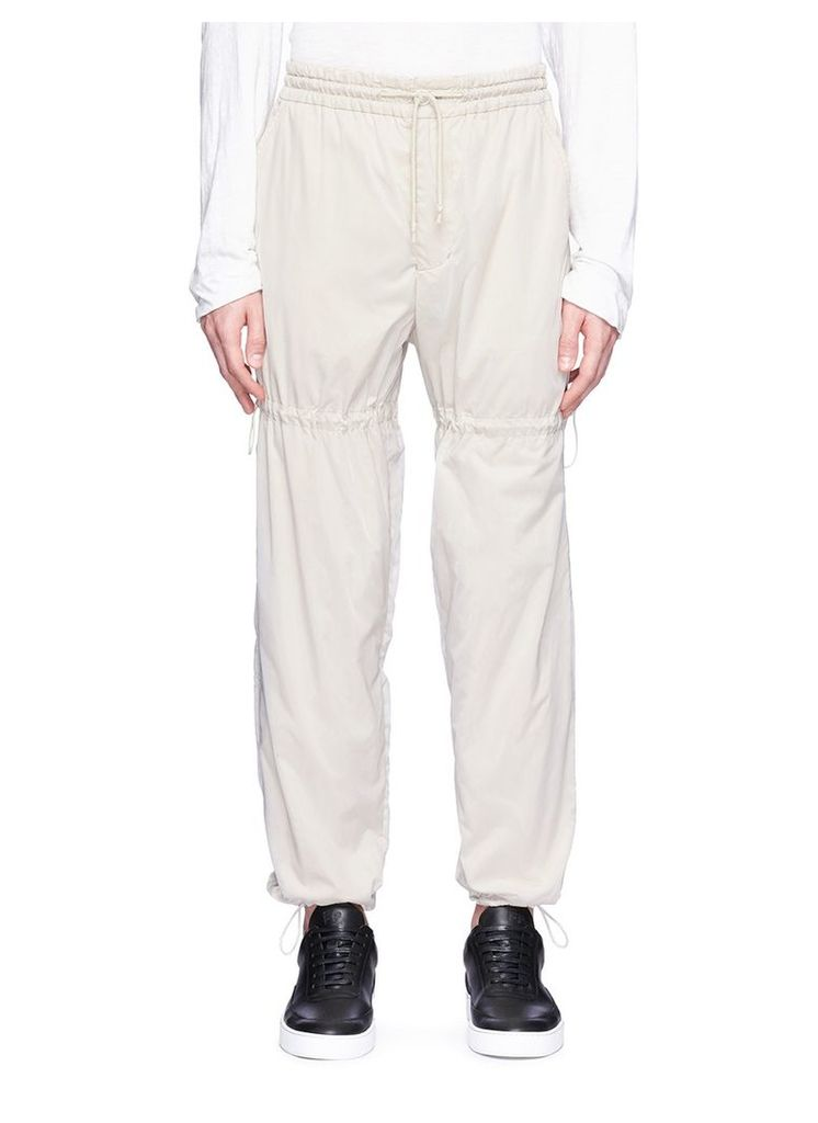 Bungee drawcord jogging pants