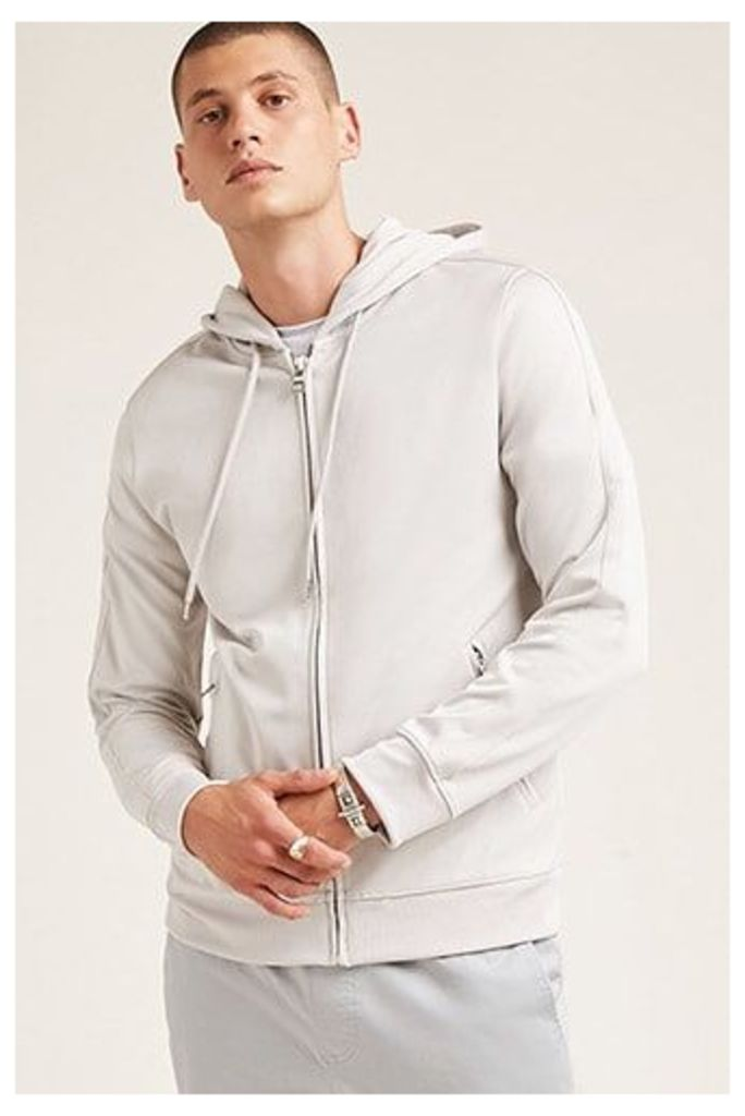 Hooded Zip-Front Track Jacket