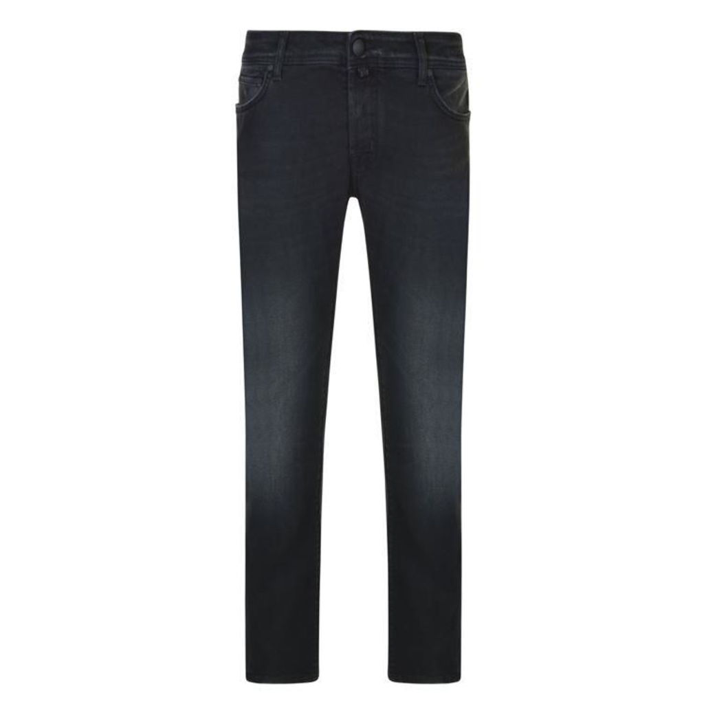 JACOB COHEN Black Wash Regular Fit Jeans