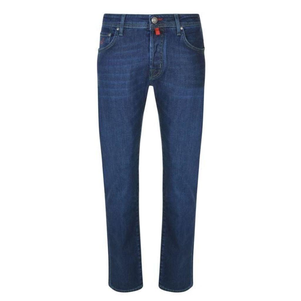 JACOB COHEN Green Badge Slim Jeans