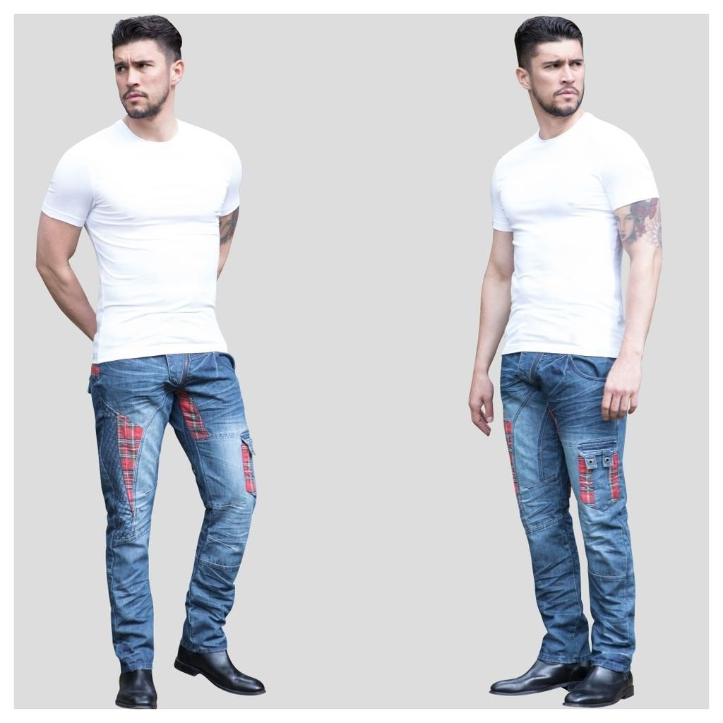 "ETO Jeans Mens Tapered Fit Jeans EM607 MSW 28"" Short Leg Waist Size: 2"