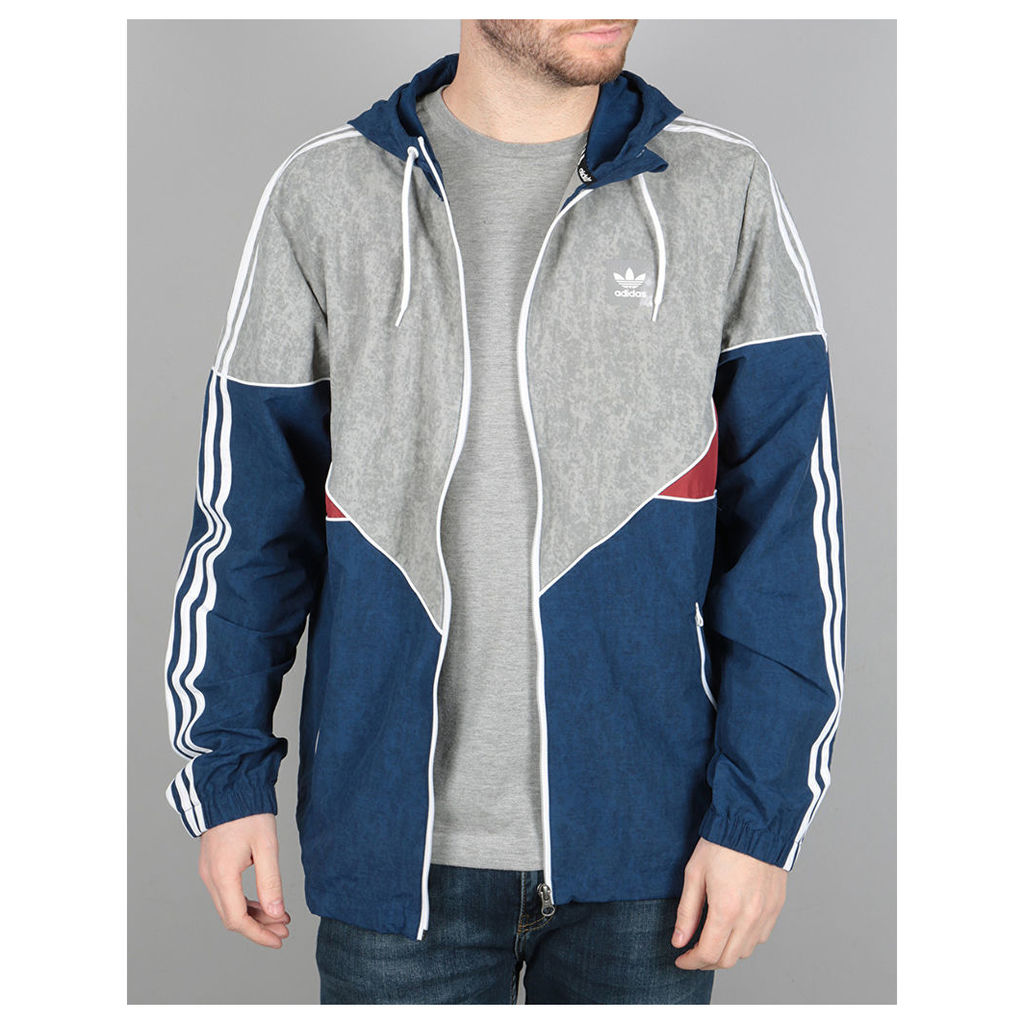 Adidas Colorado Nautical Jacket - Mystery Blue/ Red/Solid Grey/White (L)