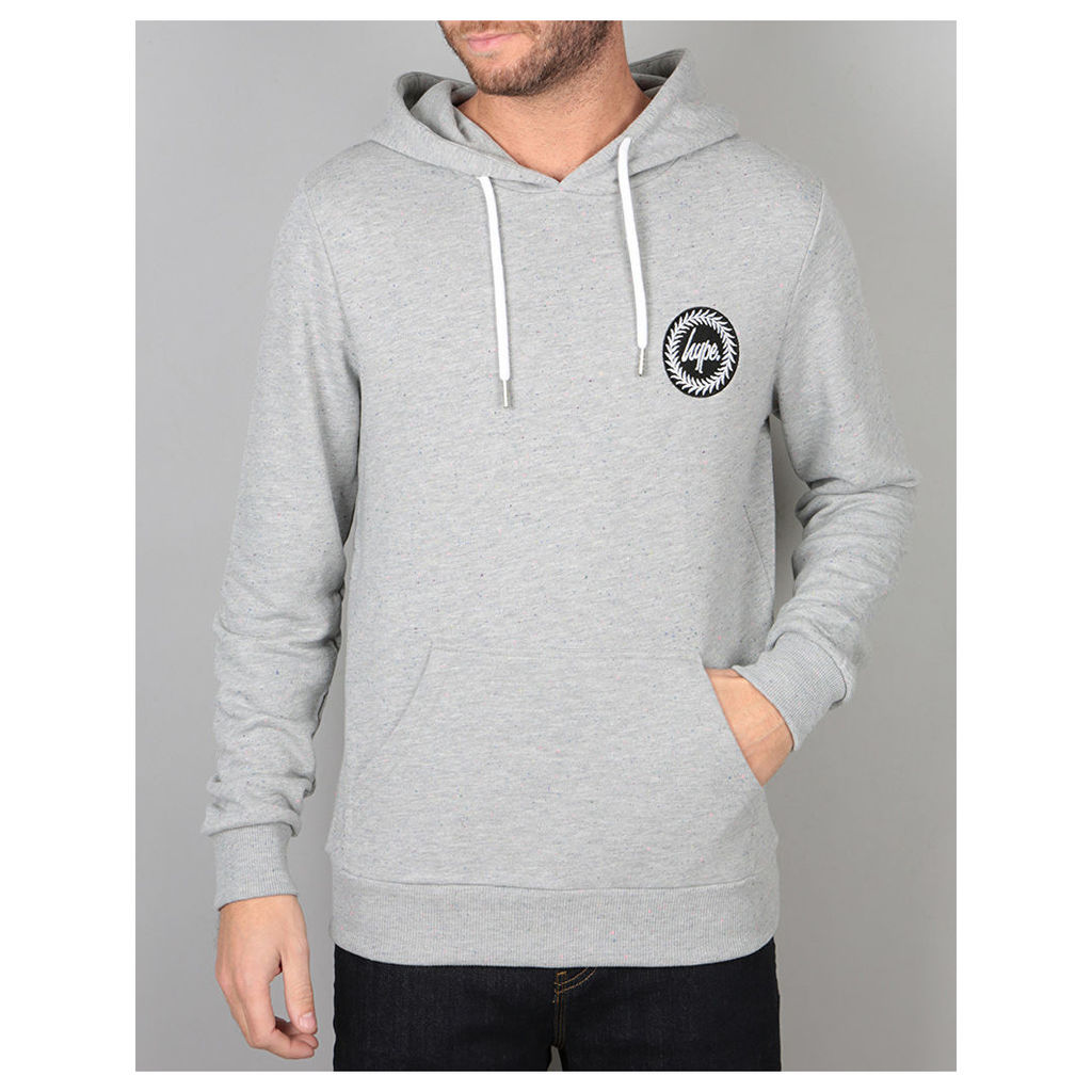 Hype Flec Crest Pullover Hoodie - Grey Blue Flec (X Small)