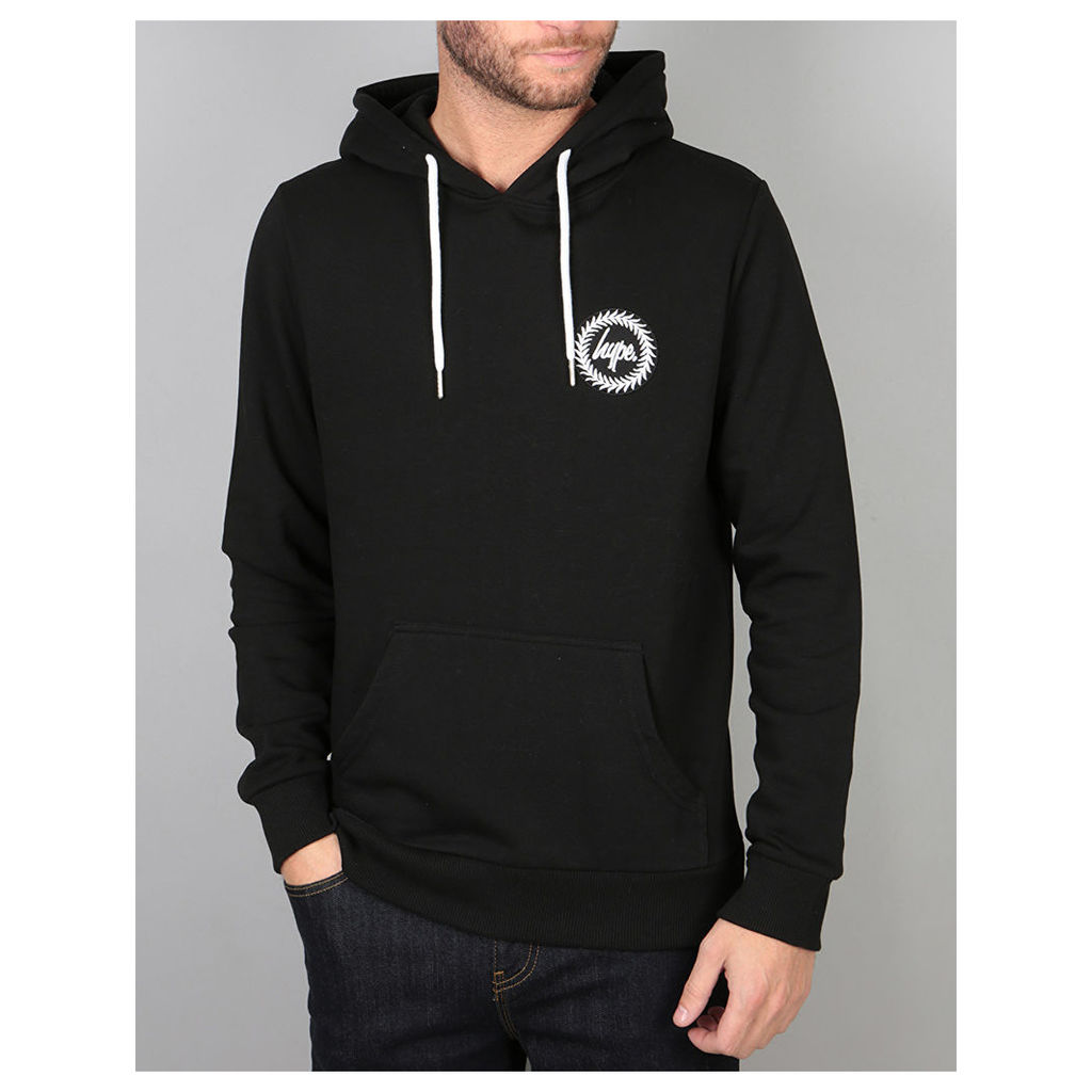 Hype Crest Pullover Hoodie - Black (X Small)