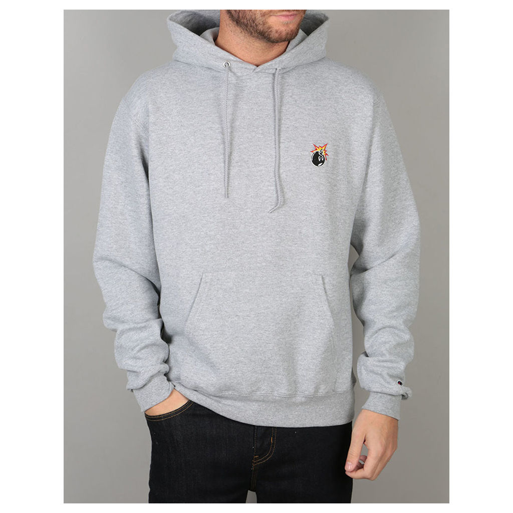 The Hundreds x Champion Crest Adam Pullover Hoodie - Athletic Heather (L)