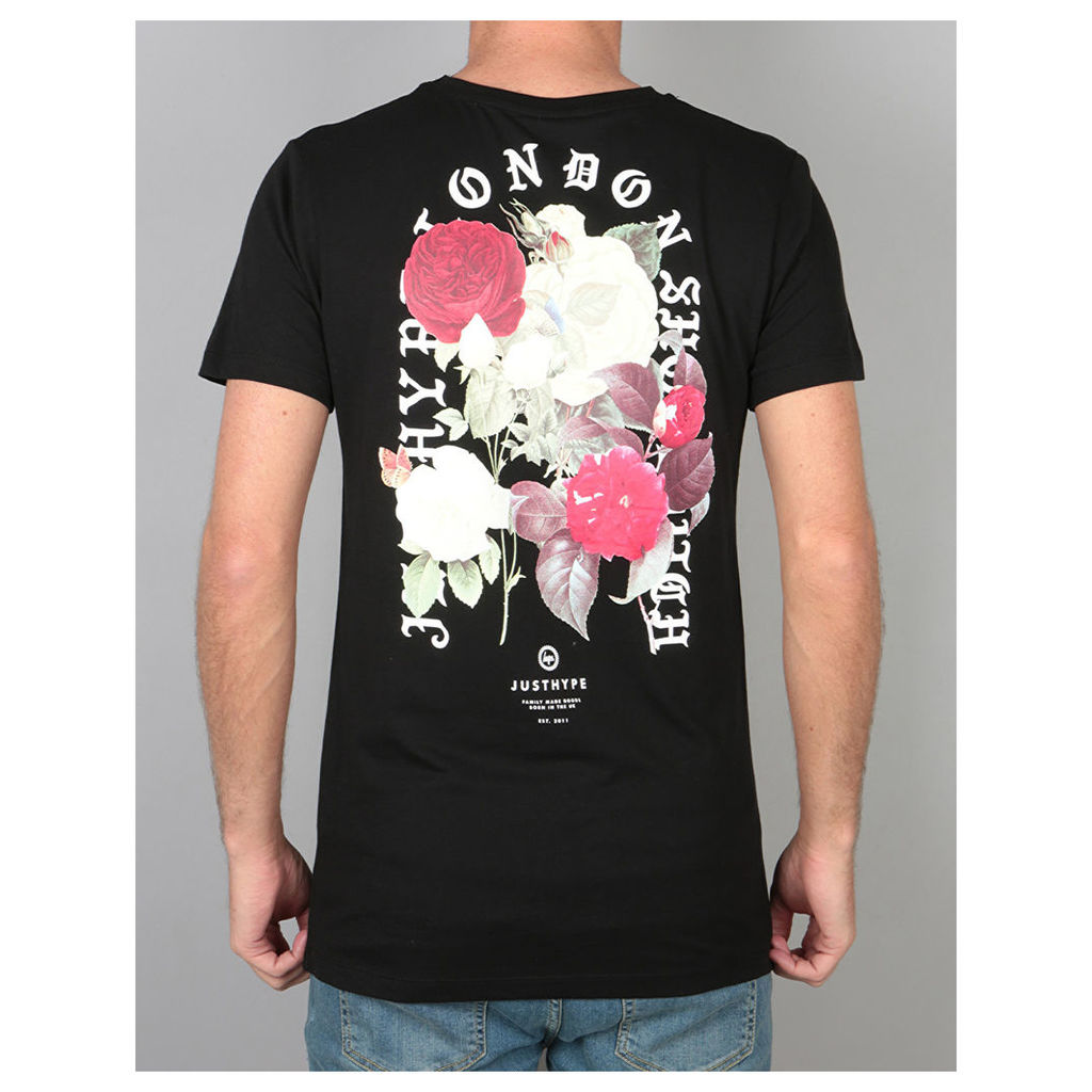 Hype Bouquet T-Shirt - Black (X Small)