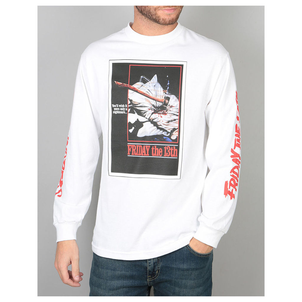The Hundreds x Friday The 13th Scream L/S T-Shirt - White (L)