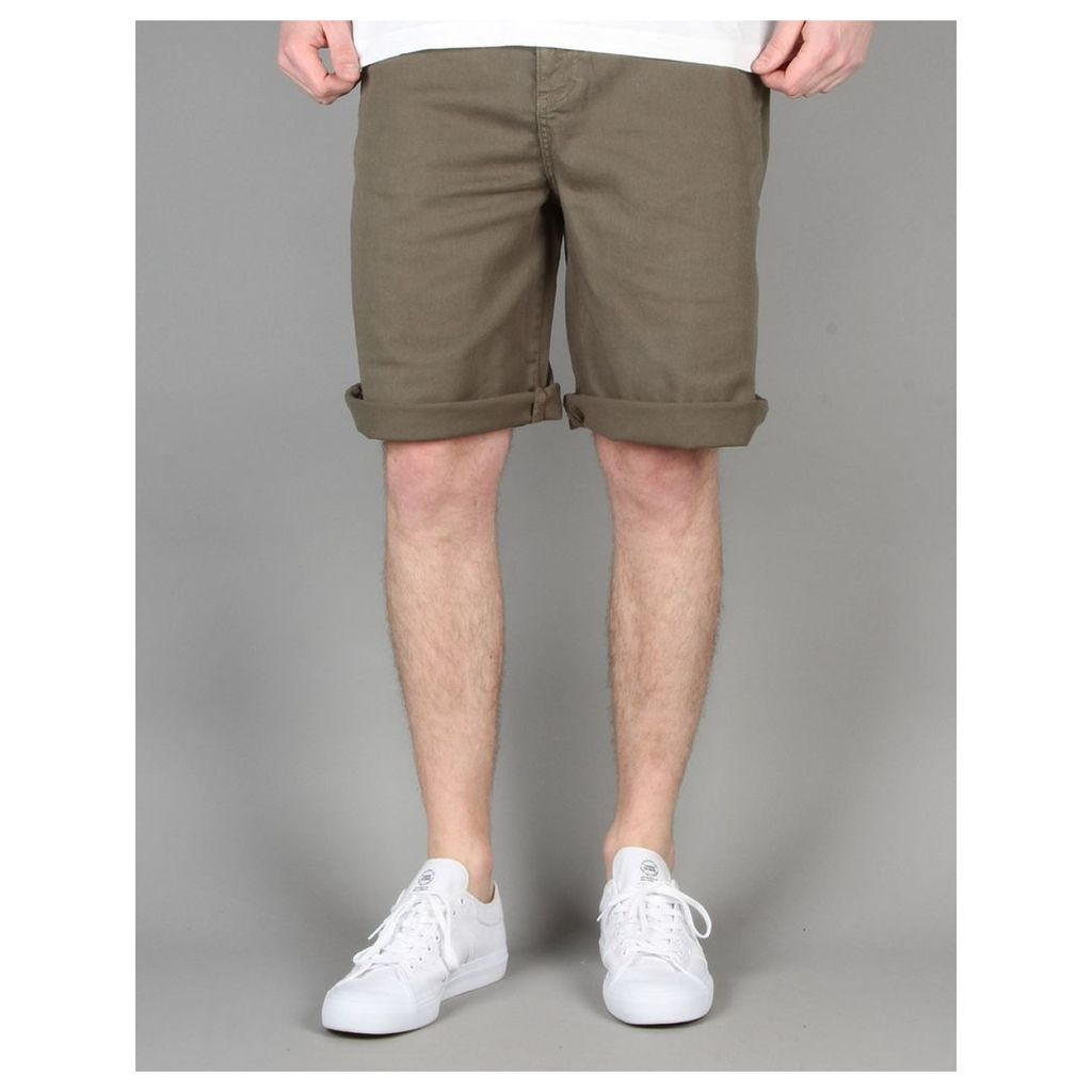 Route One Classic Fit Chino Shorts - Olive (36)