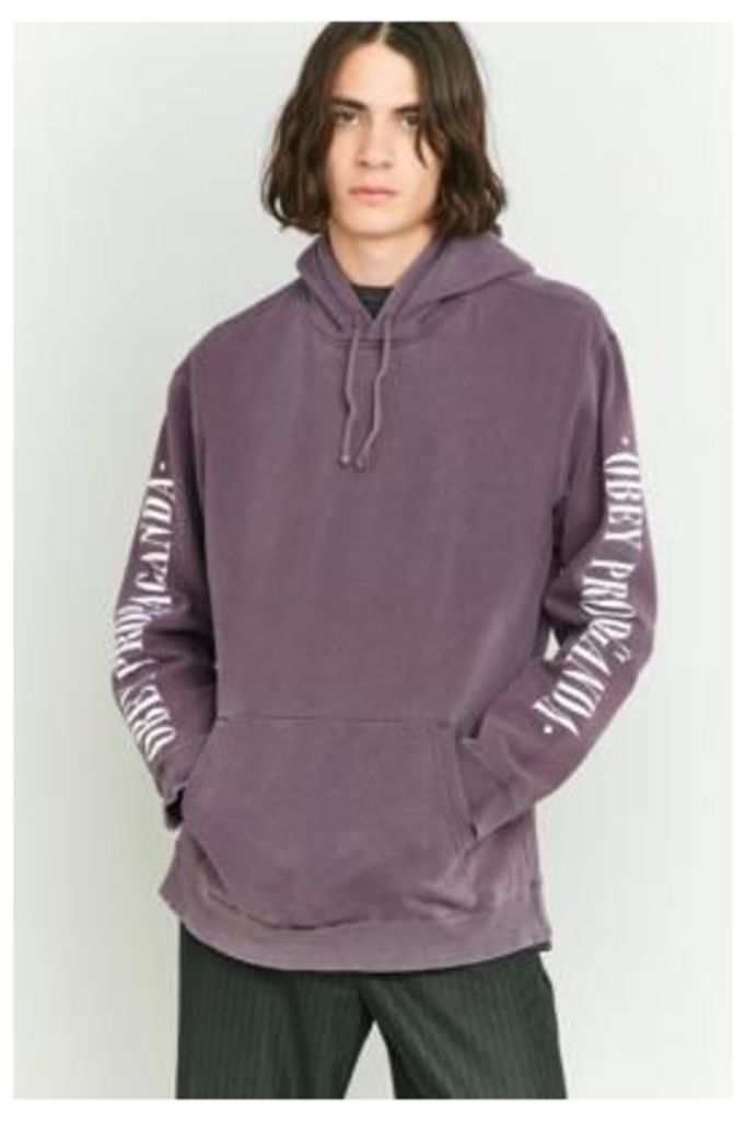 Obey New Times Propaganda Purple Pullover Hoodie, Purple