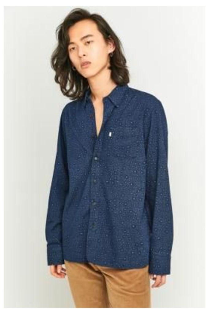 Levi's Printed Blue Selvedge Work Shirt, Blue