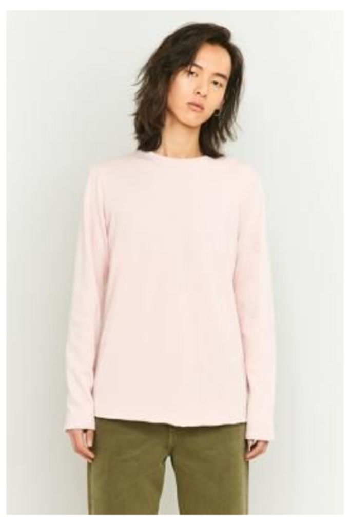 Edwin Garment Terry Pink Long Sleeve Shirt, Pink