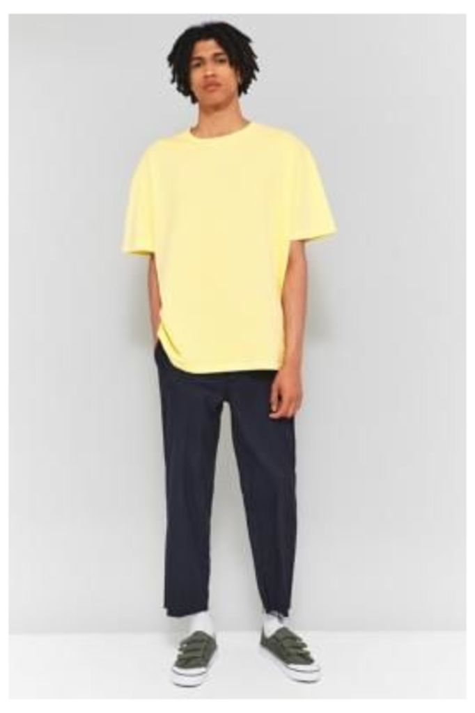 UO Yellow Drop Shoulder Short-Sleeve T-shirt, Yellow