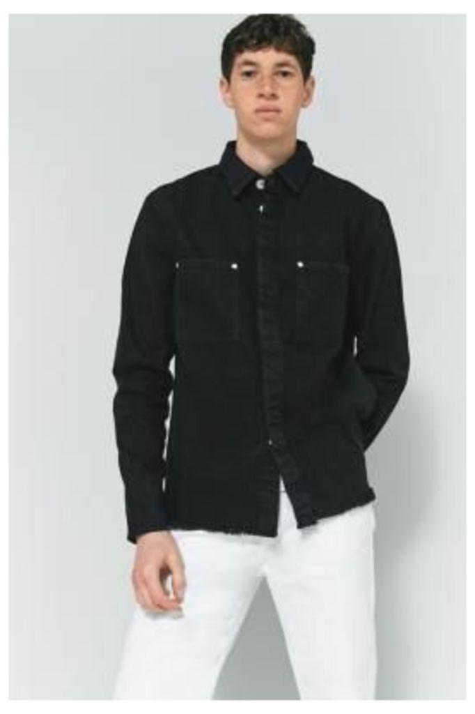 Cheap Monday Black Denim Overshirt, Black
