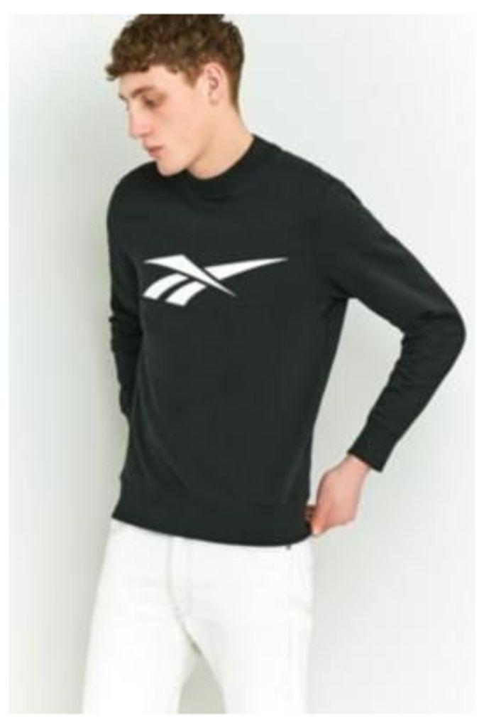 Reebok LF Retro Black Crewneck Sweatshirt, Black