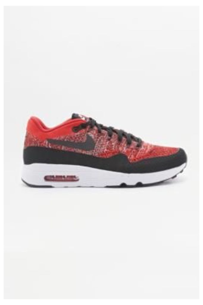 Nike Air Max 1 Ultra 2.0 Red Flyknit Trainers, Red