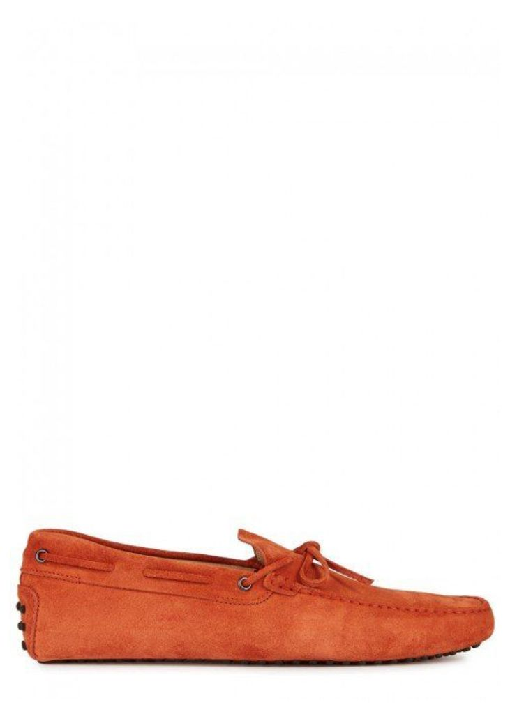 Tod's Gommino Burnt Orange Suede Driving Shoes - Size 6
