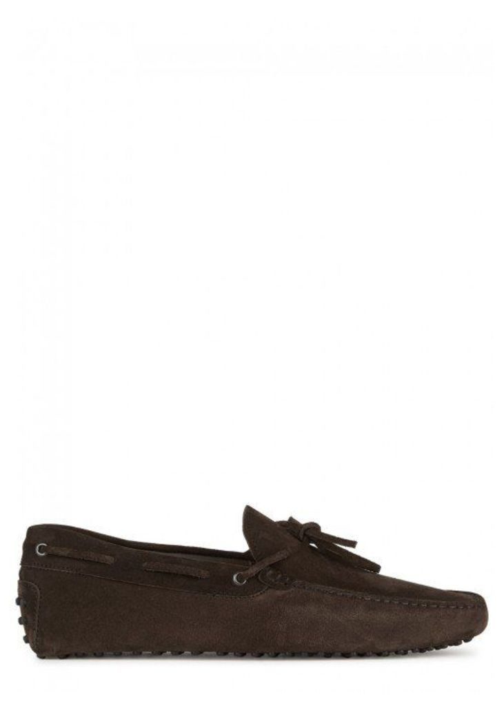 Tod's Gommino Brown Suede Driving Shoes - Size 10