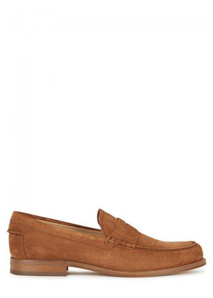 Tod's Hazelnut Suede Loafers - Size 10