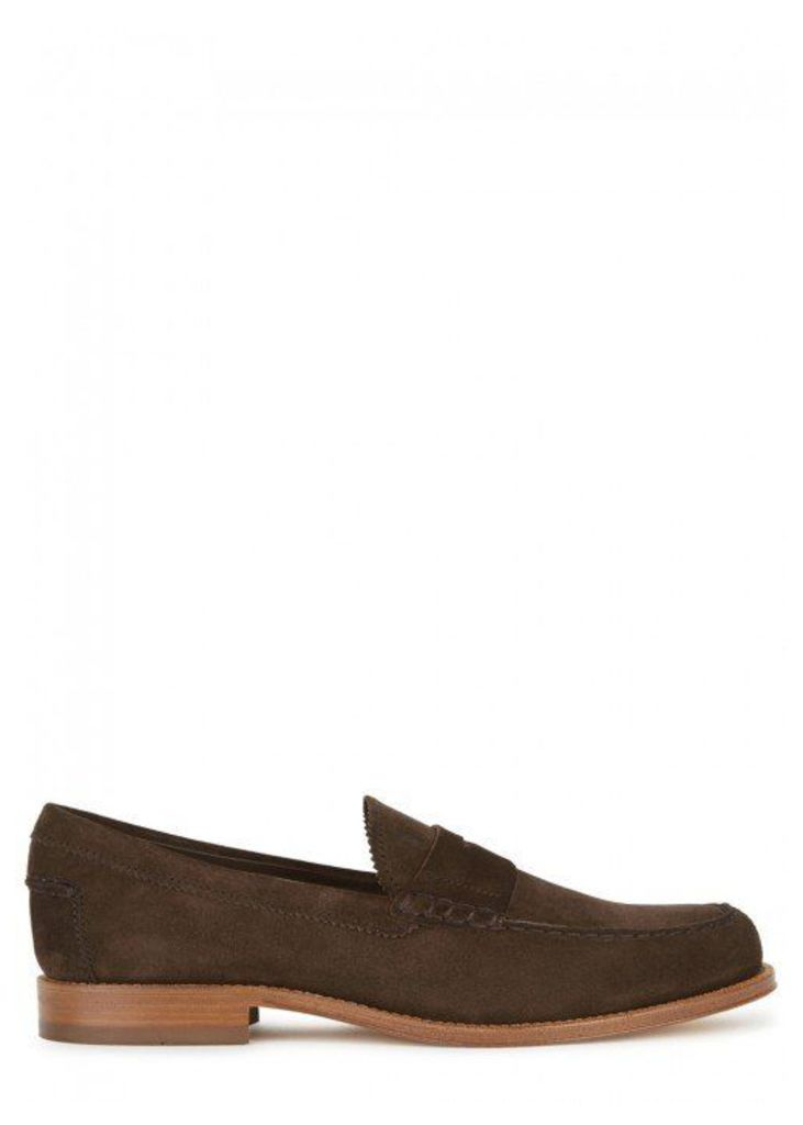 Tod's Dark Brown Suede Loafers - Size 6