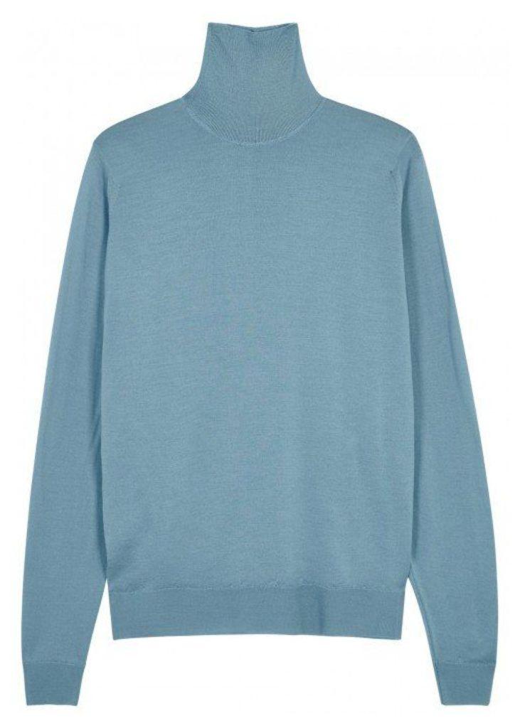 John Smedley Cherwell Roll-neck Merino Wool Jumper - Size S