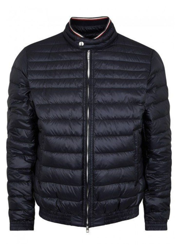 Moncler Garin Navy Quilted Shell Jacket - Size 6