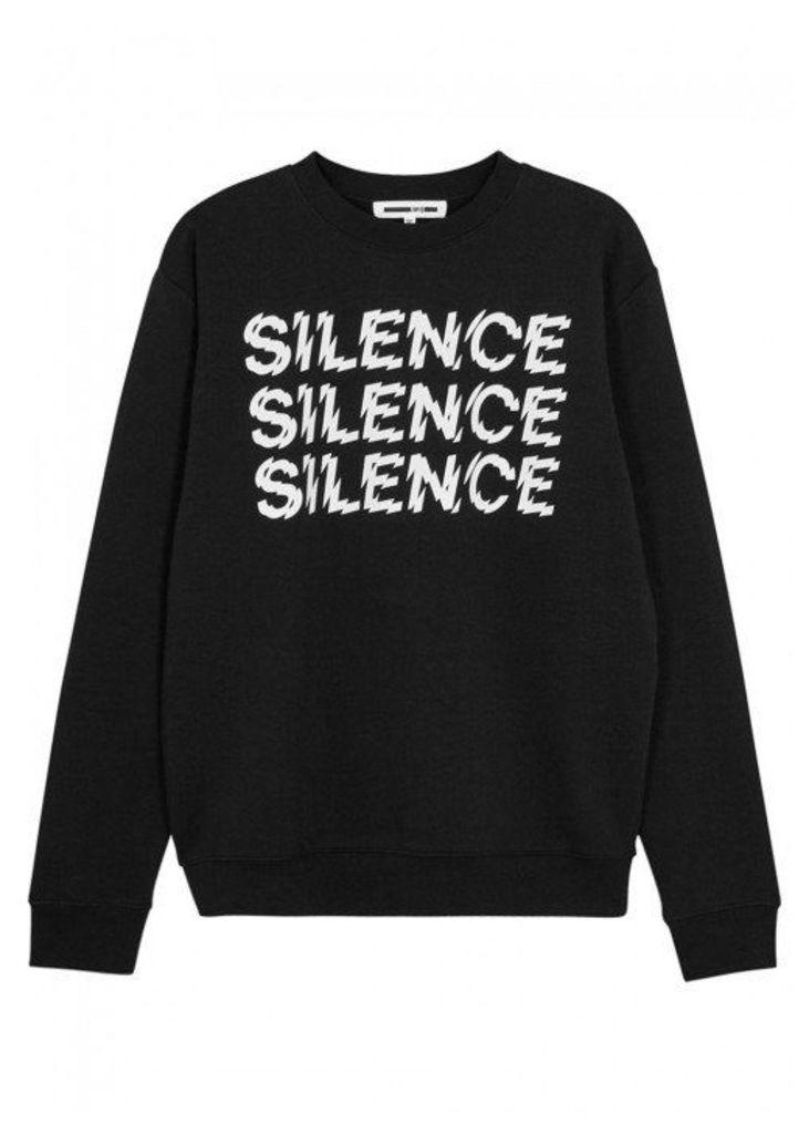 McQ Alexander McQueen Black Printed Cotton Sweatshirt - Size S