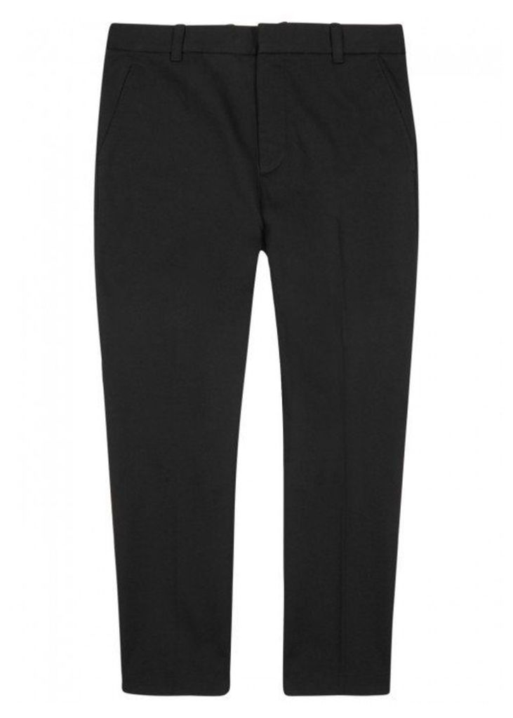 3.1 Phillip Lim Black Cotton Blend Twill Trousers - Size W32