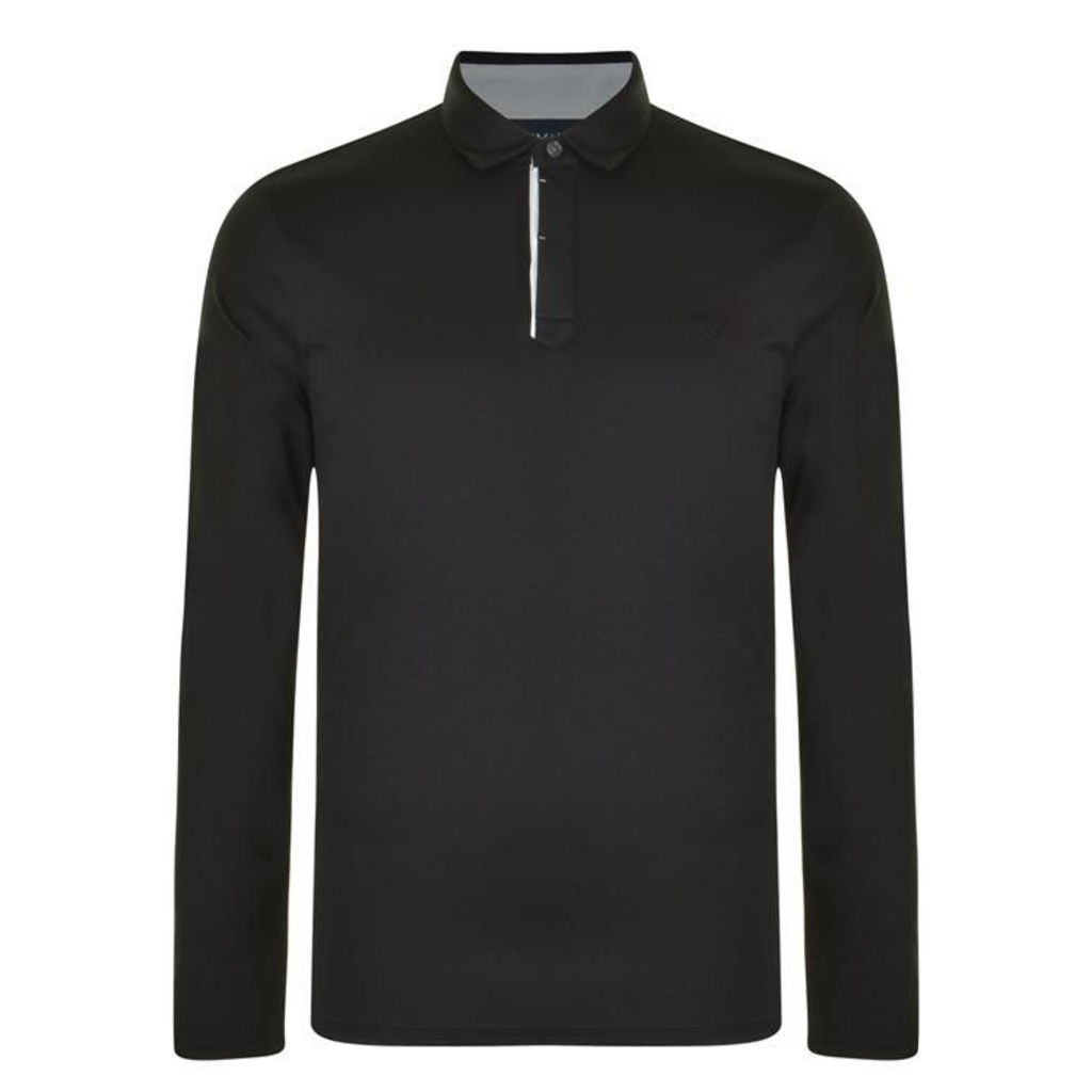 ARMANI JEANS Slim Long Sleeved Polo Shirt