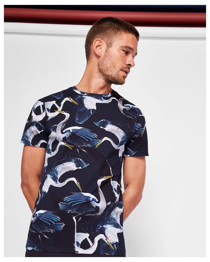 Ted Baker All-over bird print T-shirt Navy
