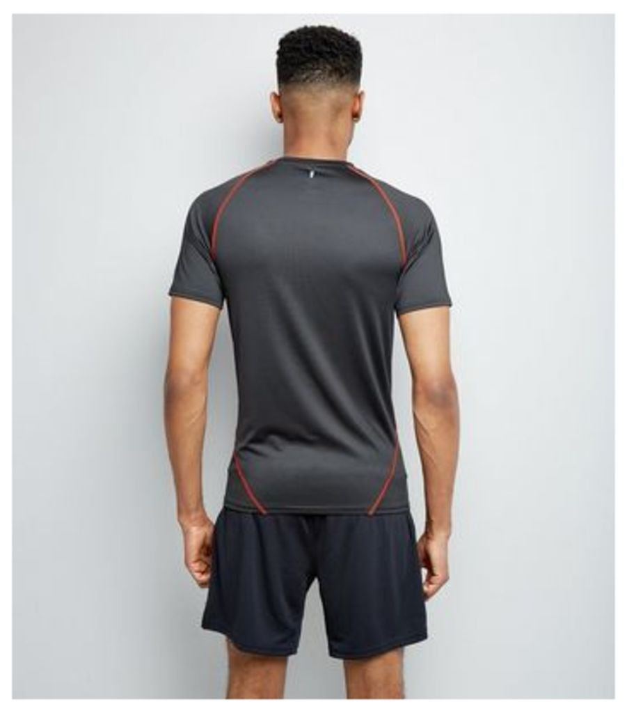 Black Muscle Fit Sports T-Shirt New Look