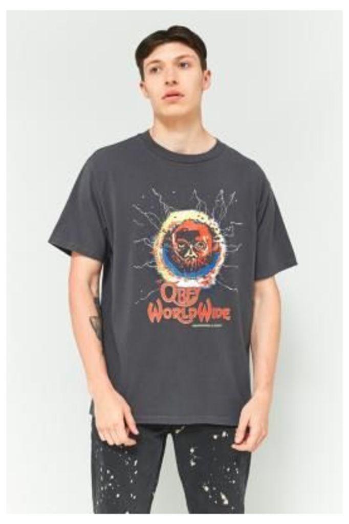 OBEY Worldwide Dusty Grey Pigment Dye T-shirt, Dark Grey