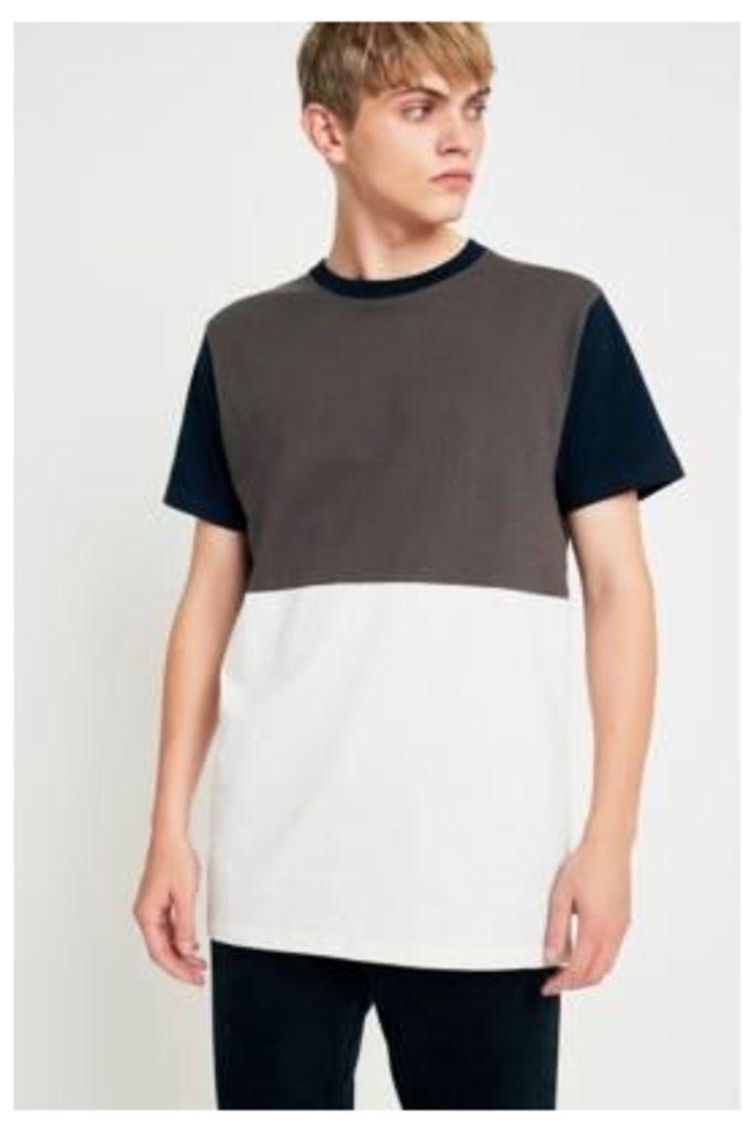 Wemoto Drifter Khaki Panelled T-shirt, Khaki