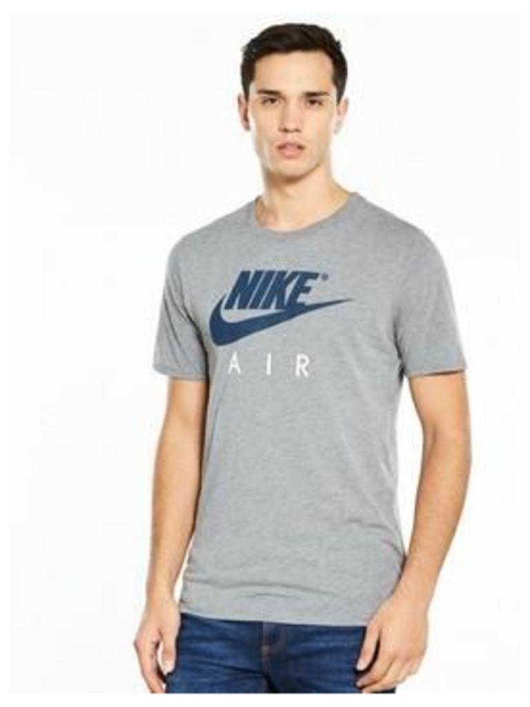 Nike Air Logo T-Shirt, Carbon Heather, Size S, Men