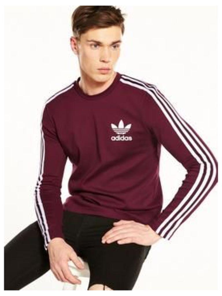 adidas Originals Adicolor Crew Neck Sweat, Maroon, Size M, Men