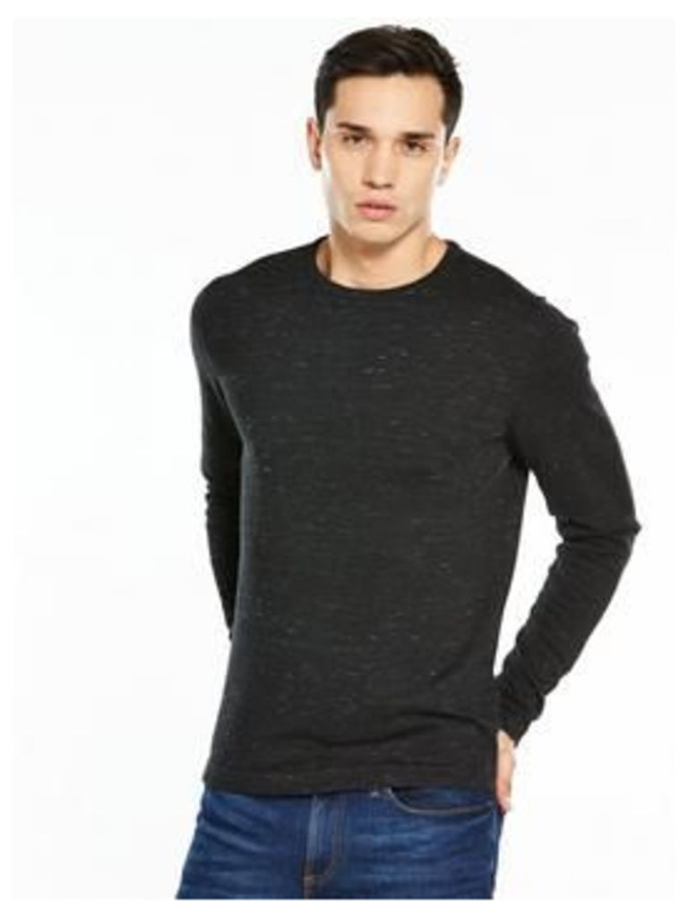 Jack & Jones Jack And Jones Premium Mikey Knit Crew Neck, Black, Size S, Men