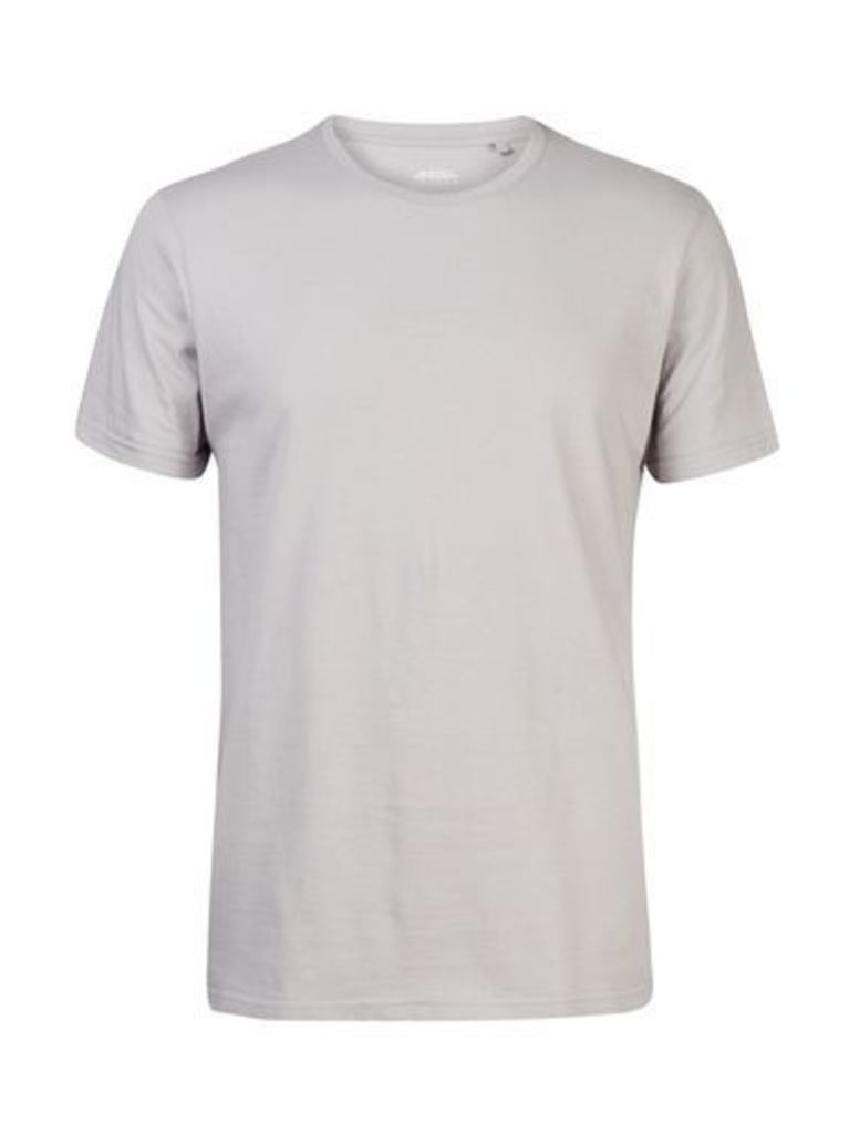 Mens Ceramic Grey Crew Neck T-Shirt, Grey