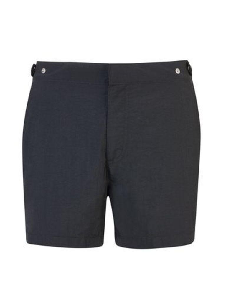 Mens Black Riviera Swim Shorts, Blue