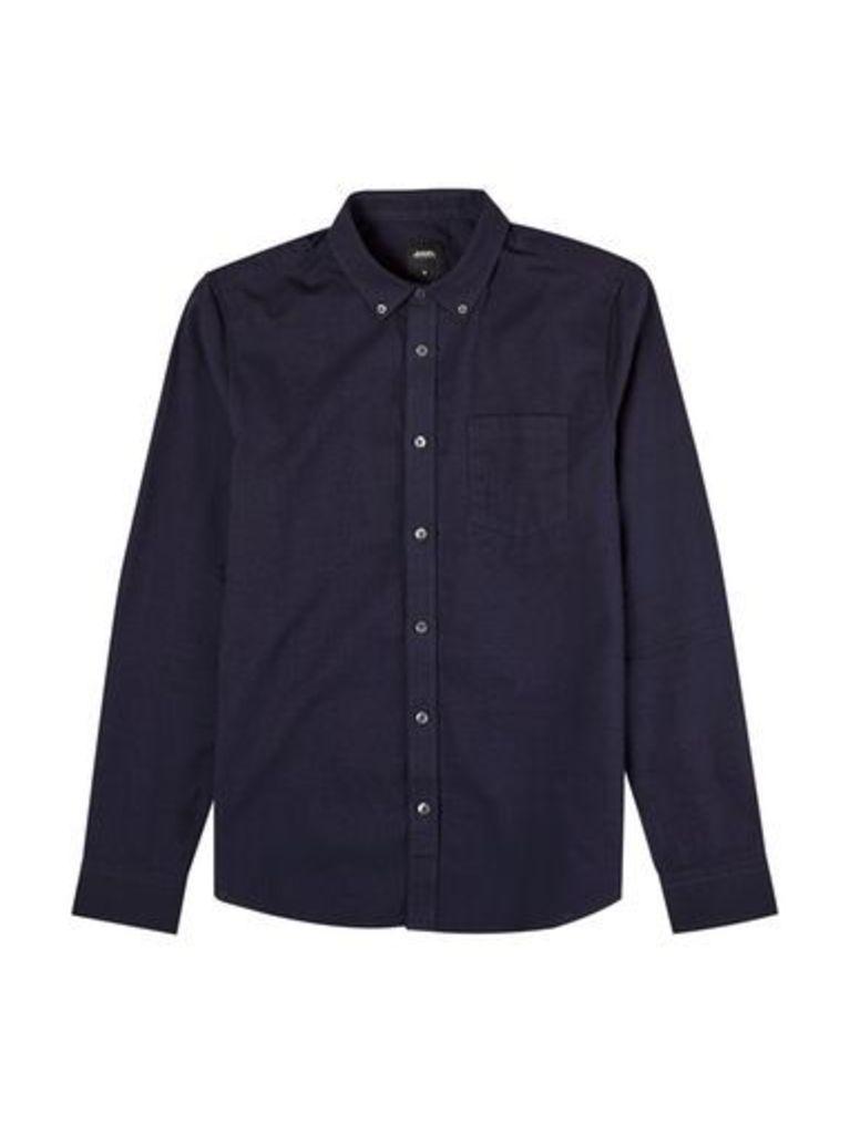 Mens Purple Long Sleeve Oxford Shirt, Purple